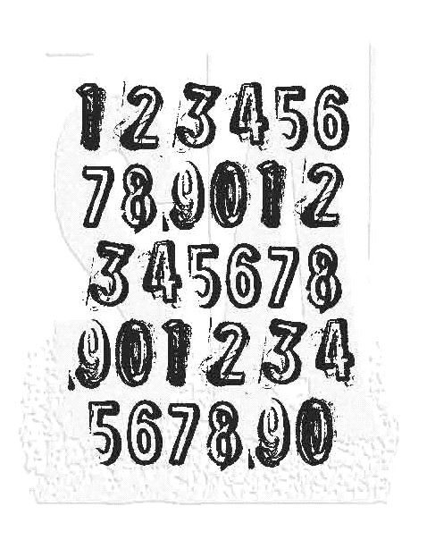 Tim Holtz Rubber Stamp COUNTDOWN Stampers Anonymous J1-2840 zoom image
