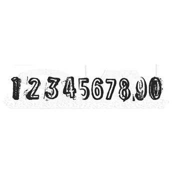 Tim Holtz Rubber Stamp SEQUENCE Stampers Anonymous J4-2841