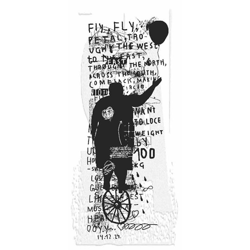Tim Holtz Rubber Stamp FLY FLY Stampers Anonymous P3-2842 Preview Image