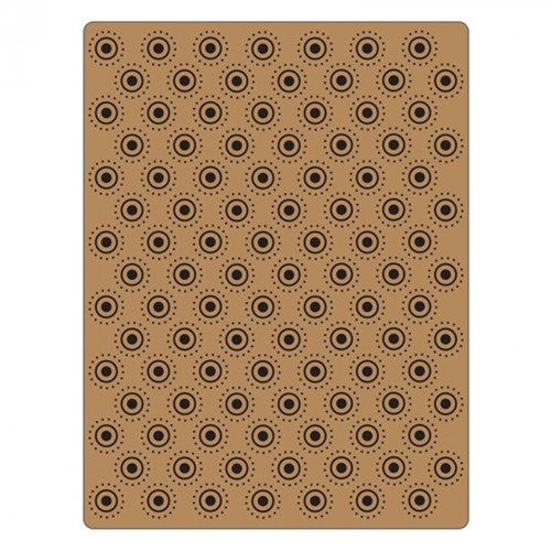 Tim Holtz Sizzix DOTTED BULLSEYE Texture Fades Embossing Folder 661364 Preview Image