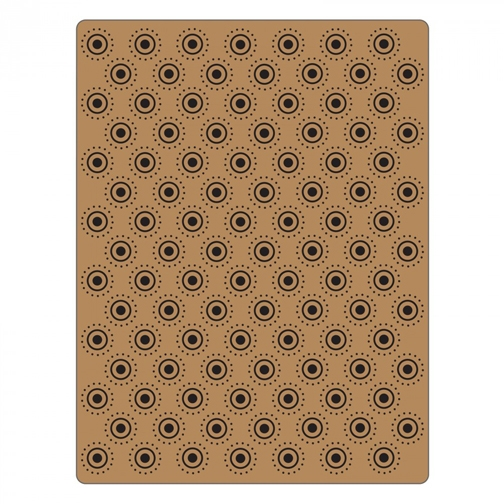Tim Holtz Sizzix DOTTED BULLSEYE Texture Fades Embossing Folder 661364 zoom image