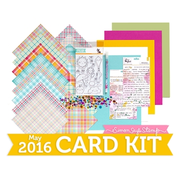 Simon Says Stamp Card Kit of the Month May 2016 Showered with Love ck516