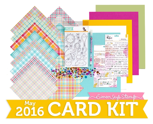 Simon Says Stamp Card Kit of the Month May 2016 Showered with Love ck516 zoom image