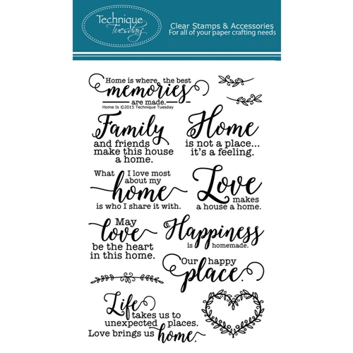 Technique Tuesday HOME IS Clear Stamps 02278 Preview Image