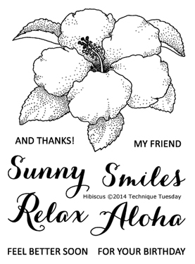 Technique Tuesday HIBISCUS Clear Stamps 02162 Preview Image
