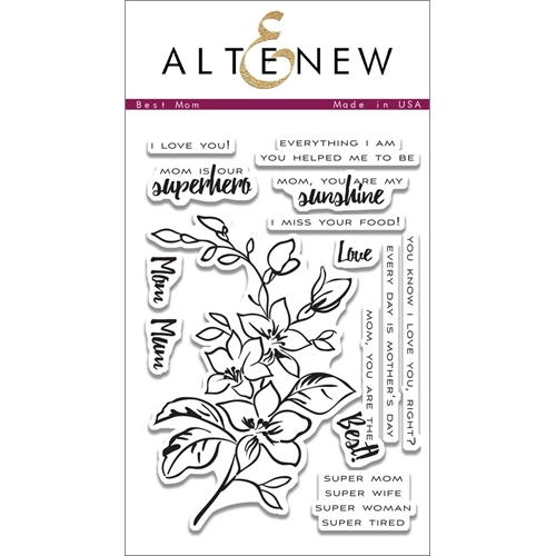 Altenew BEST MOM Clear Stamp Set  Preview Image