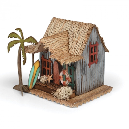 Tim Holtz Sizzix Die VILLAGE SURF SHACK Bigz 661208 Preview Image