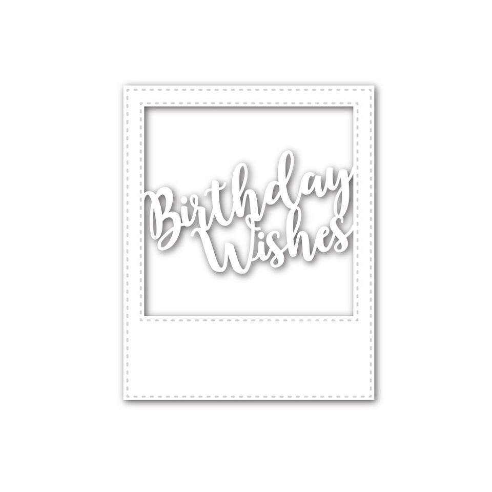Simon Says Stamp BIRTHDAY WISHES FRAME Wafer Dies SSSD111582 My Favorite zoom image