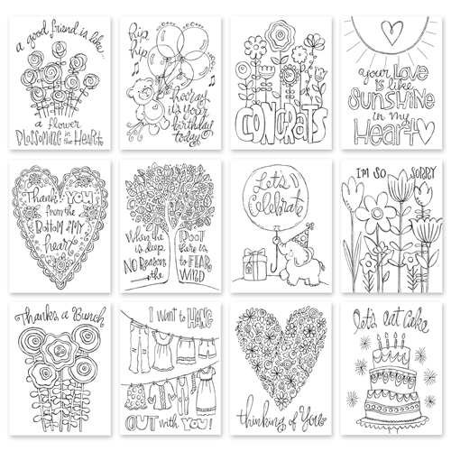 Simon Says Stamp SUZY'S WATERCOLOR EVERY OCCASION NOTES Prints My Favorite SPE12  Preview Image