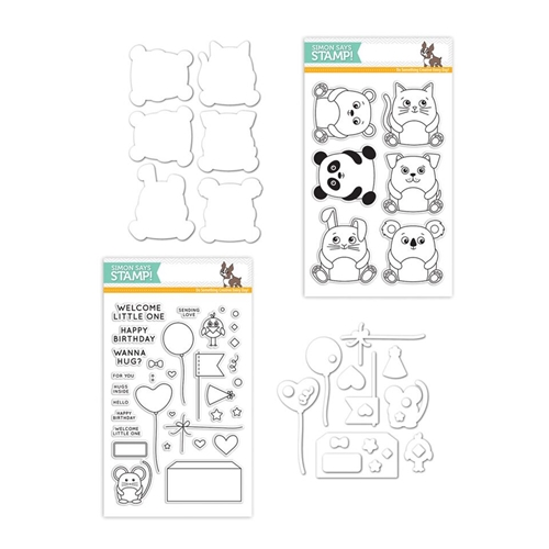 Simon Says Stamps and Dies CUDDLY CRITTERS FAMILY PACK Set256CCFP My Favorite Preview Image
