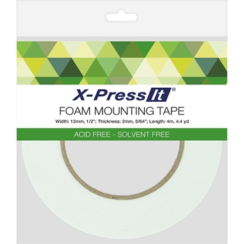 Copic X-Press It Double Sided FOAM 1/2 Inch Mounting TAPE FT12
