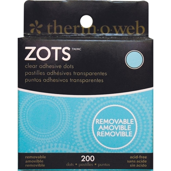 Zots REMOVABLE Clear Adhesive Dots Permanent 3791