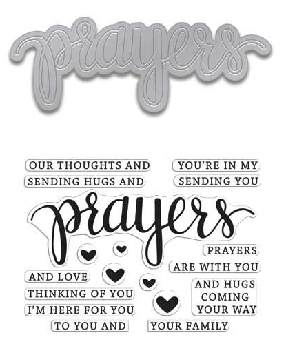 Hero Arts Stamp And Cuts PRAYERS Coordinating Set DC183 Preview Image