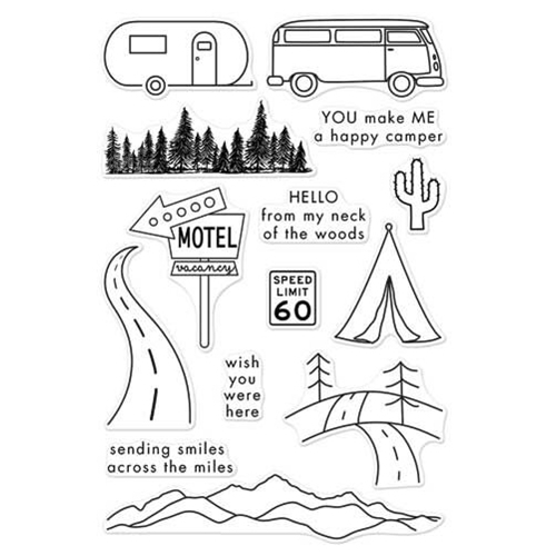 Hero Arts Clear Stamps ROAD TRIP CL973 Preview Image