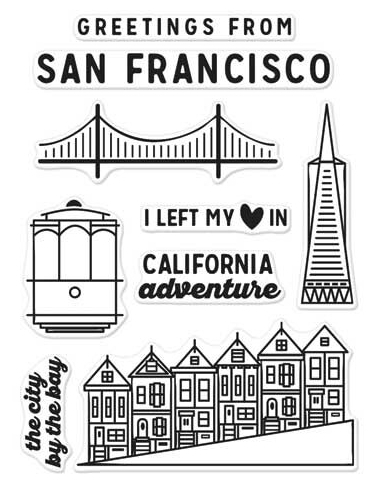 Hero Arts Clear Stamps KELLY'S SAN FRANCISCO Clearly Kelly CL971 Preview Image