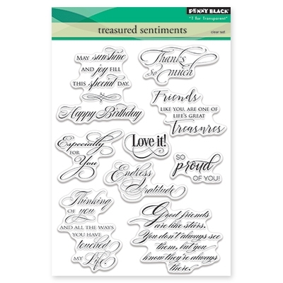 Penny Black TREASURED SENTIMENTS Clear Stamp Set 30-356 Preview Image