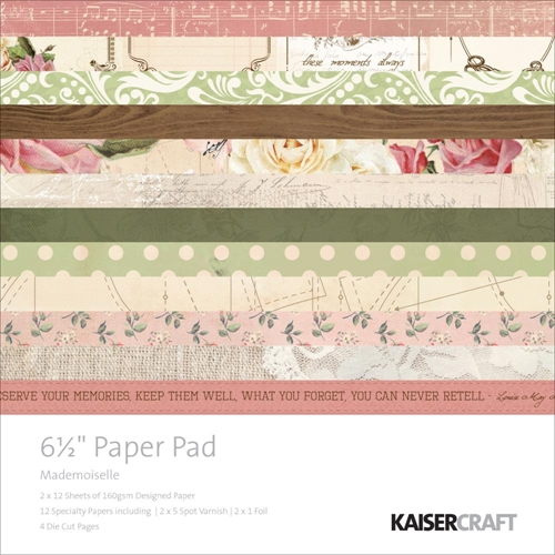 Kaisercraft MADEMOISELLE 6.5 x 6.5 Inch Paper Pad PP1001 Preview Image