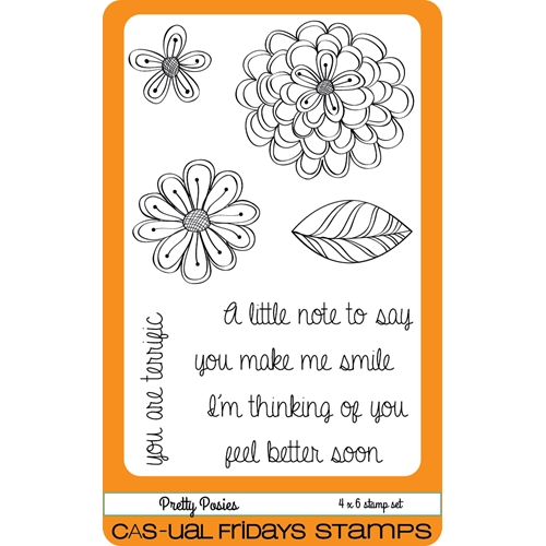 CAS-ual Fridays PRETTY POSIES Clear Stamps CFS1603 Preview Image