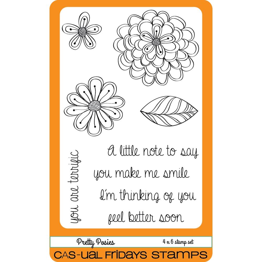 CAS-ual Fridays PRETTY POSIES Clear Stamps CFS1603 zoom image