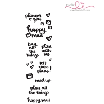 Studio L2E PLANNER GIRL Clear Stamp Set
