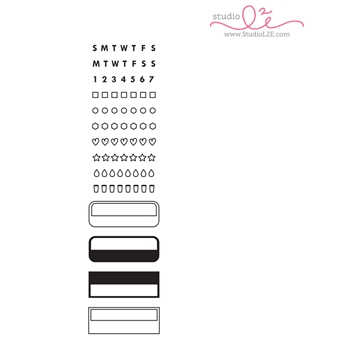Studio L2E TRACK IT : BOXES Clear Stamp Set