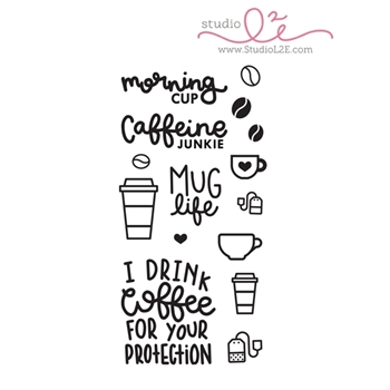 Studio L2E MORNING CUP Clear Stamp Set