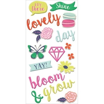 We R Memory Keepers FLOWER GIRL Puffy Stickers 662877