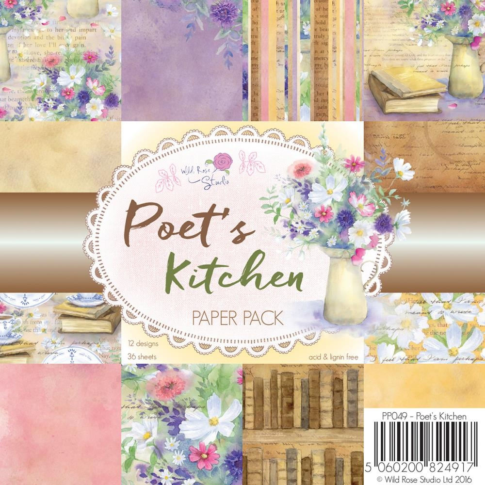 Wild Rose Studio Poets Kitchen 6x6 Paper Pack