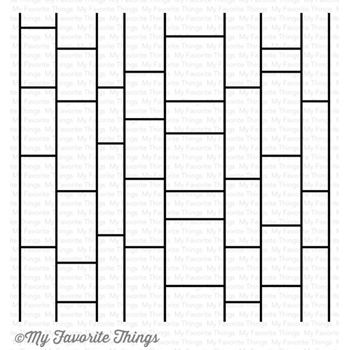My Favorite Things MODERN MOSAIC Background Cling Stamp MFT BG75