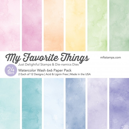 My Favorite Things WATERCOLOR WASH 6x6 Paper Pack 01346 Preview Image