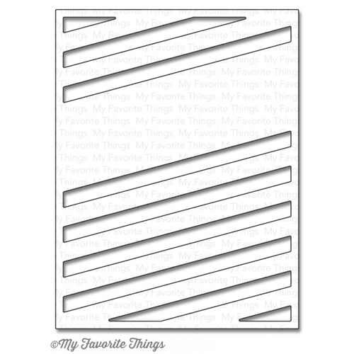 My Favorite Things DIAGONAL SENTIMENT STRIP COVER UP Die-Namics MFT903 Preview Image