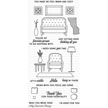 My Favorite Things MAKE YOURSELF AT HOME Clear Stamps LJD59