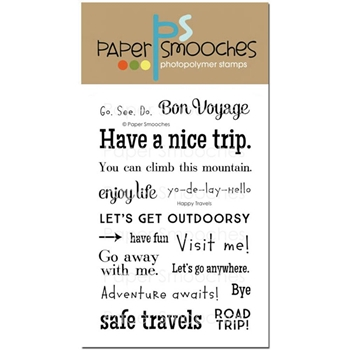 Paper Smooches HAPPY TRAVELS Clear Stamps M2S268