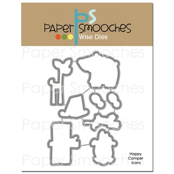 Paper Smooches HAPPY CAMPER ICONS Wise Dies M2D322