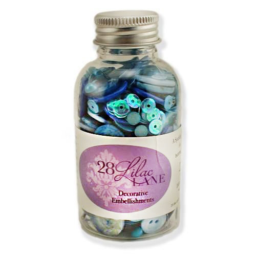 28 Lilac Lane WINTER BLUES Embellishment Bottle LL211 Preview Image