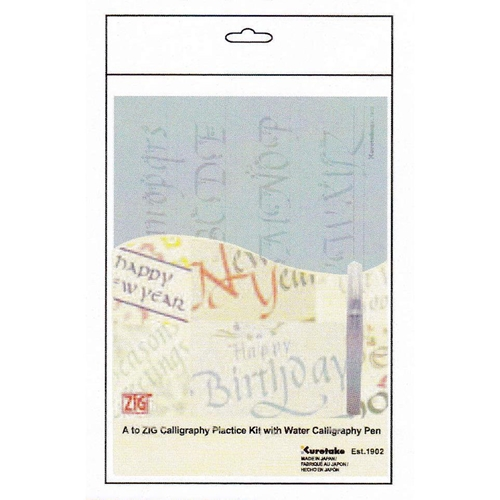 Zig Kuretake CALLIGRAPHY PRACTICE KIT With Water Pen INPK001 Preview Image