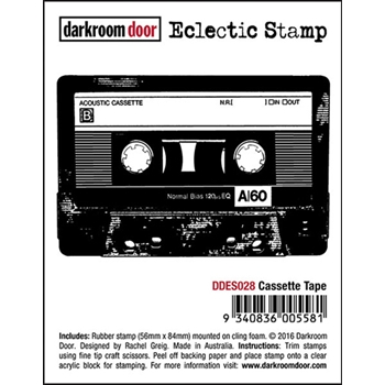 Darkroom Door Cling Stamp CASSETTE TAPE Eclectic Rubber UM DDES028