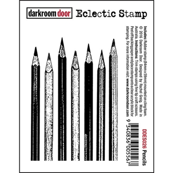 Darkroom Door Cling Stamp PENCILS Eclectic Rubber UM DDES026