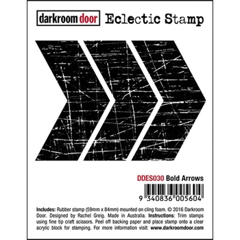 Darkroom Door Cling Stamp BOLD ARROWS Eclectic Rubber UM DDES030