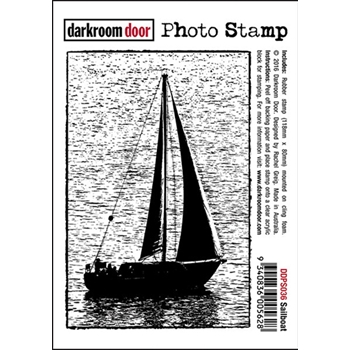 Darkroom Door Cling Stamp SAILBOAT Photo Rubber UM DDPS036