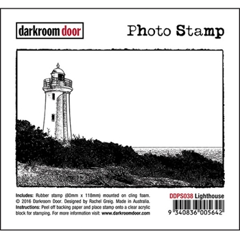 Darkroom Door Cling Stamp LIGHTHOUSE Photo Rubber UM DDPS038