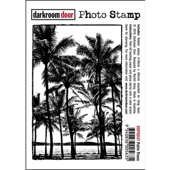 Darkroom Door Cling Stamp PALM TREES Photo Rubber UM DDPS037