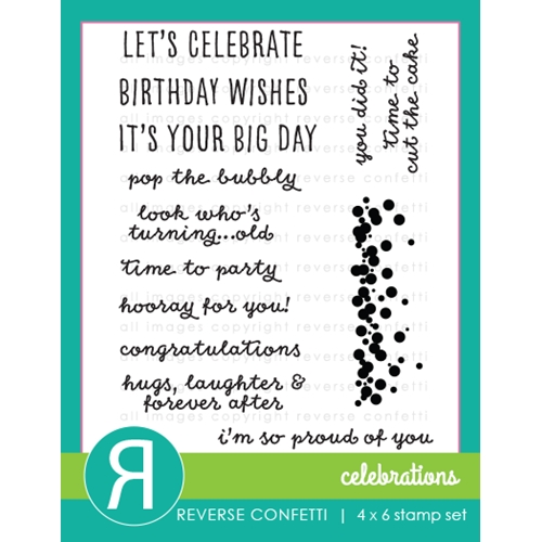 Reverse Confetti CELEBRATIONS Clear Stamp Set  Preview Image