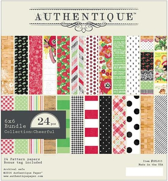 Authentique 6 x 6 CHEERFUL Paper Pad CFL015 zoom image