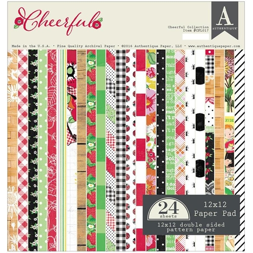Authentique CHEERFUL 12 x 12 Paper Pad CFL017* Preview Image