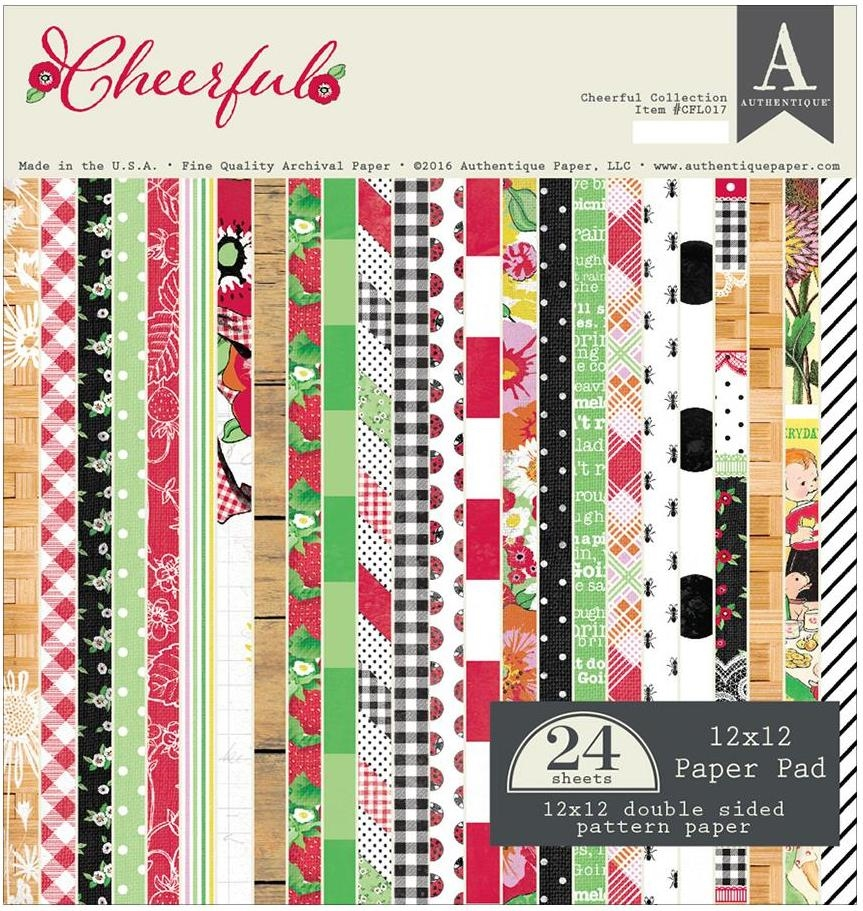 Authentique CHEERFUL 12 x 12 Paper Pad CFL017* zoom image