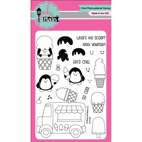 Pink and Main SO COOL Clear Stamp Set PM0182 Preview Image