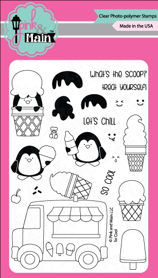 Pink and Main SO COOL Clear Stamp Set 022122 zoom image