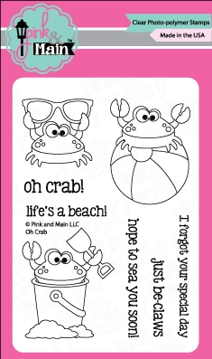 Pink and Main OH CRAB Clear Stamp Set 022115 zoom image