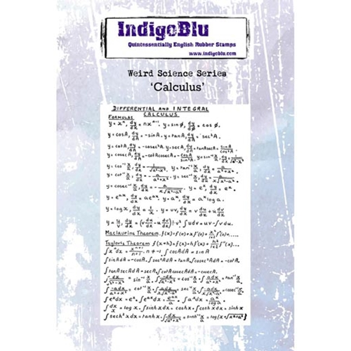 IndigoBlu Cling Stamp CALCULUS Rubber IND0237 Preview Image